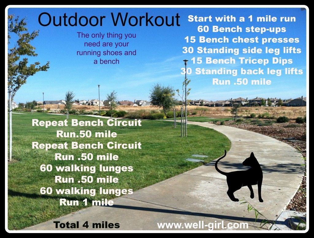 outdoor workout. do it this weekend! | werk it. | pinterest