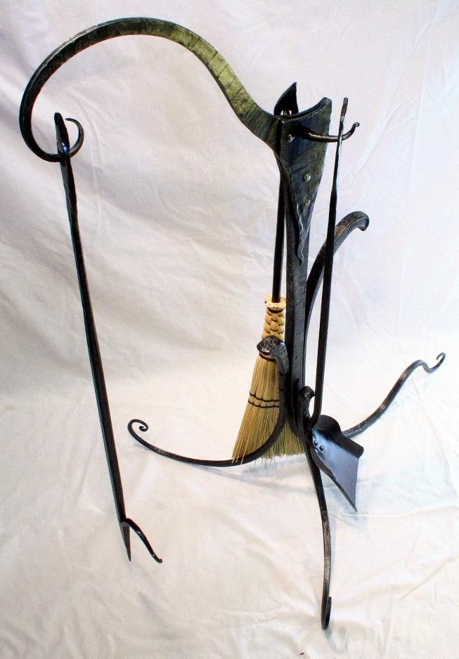 Wrought Iron Fireplace Tools Fire Place Steel Sculpture
