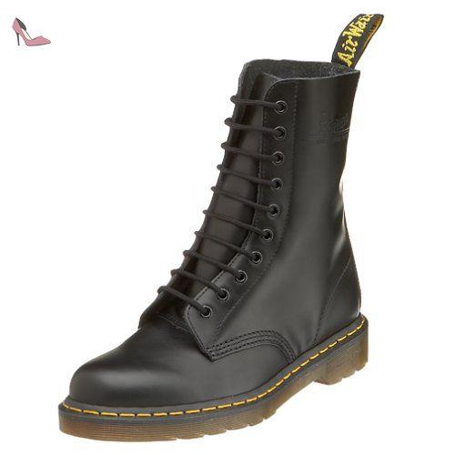 Dr. Martens 1490, Boots Mixte Adulte Noir (black Smooth), 39 Eu (6