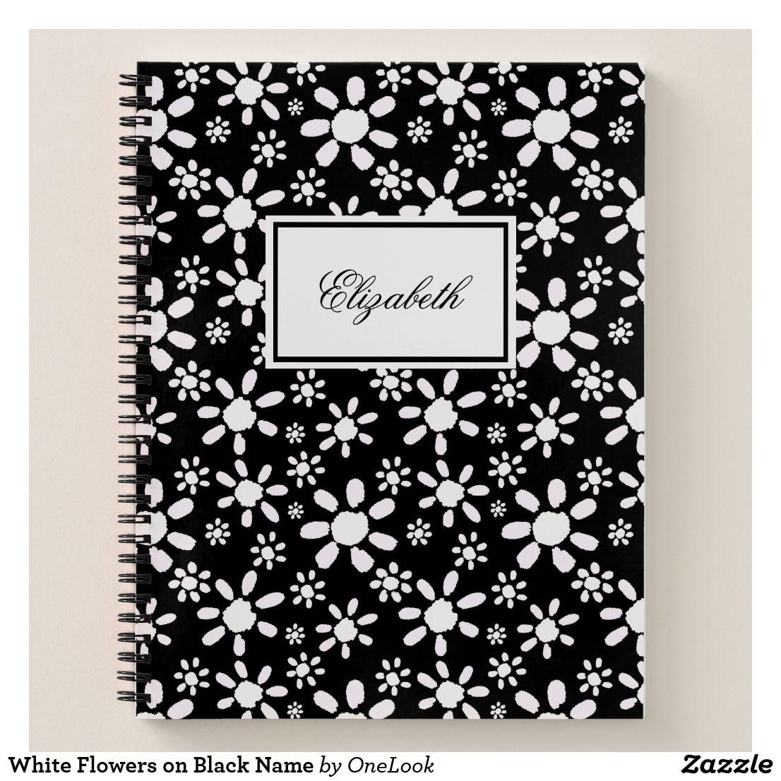White Flowers on Black Name White flowers, Blackest