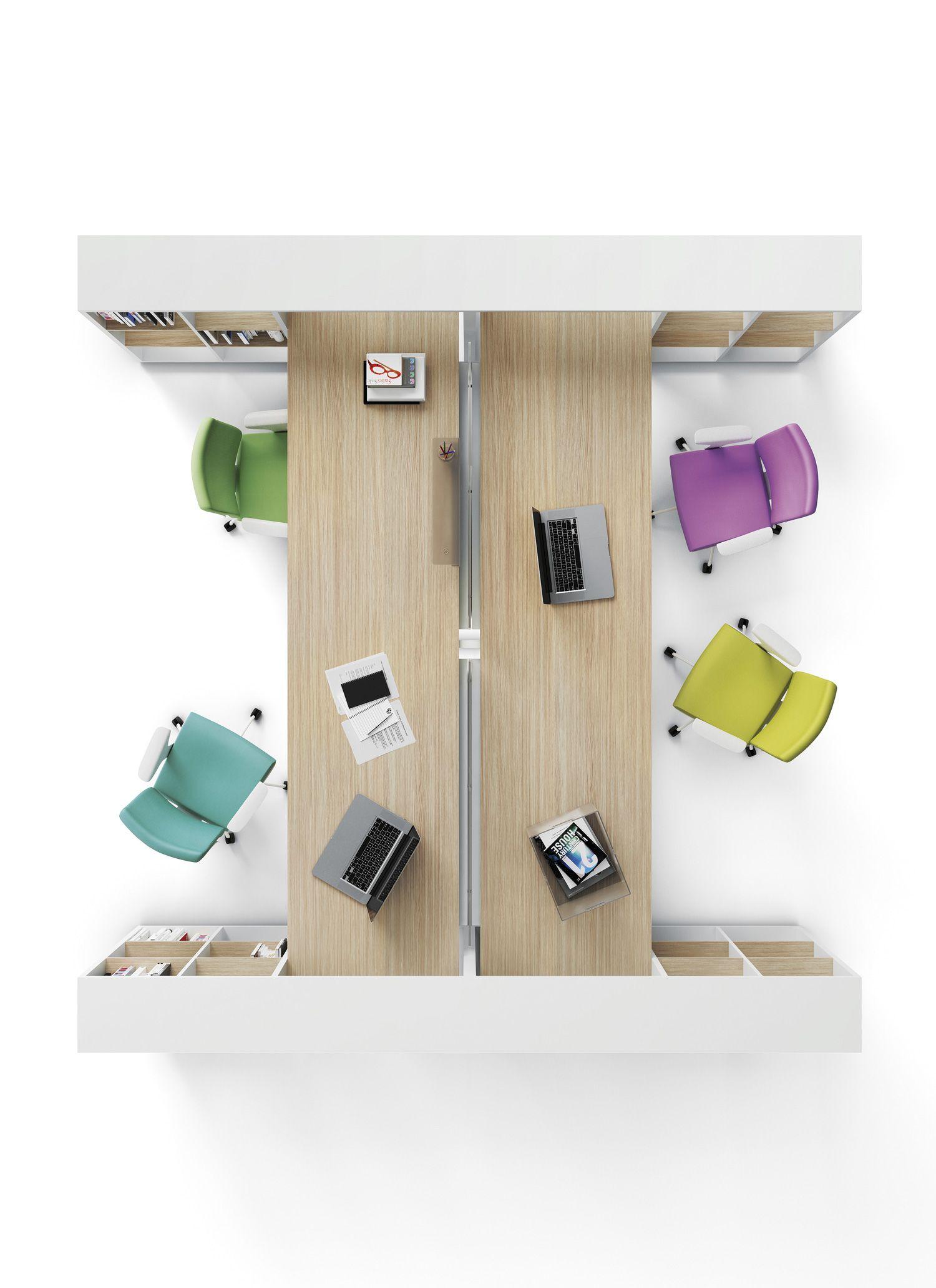 office desk with shelves. Frame Four Person Shelf Desk Office With Shelves