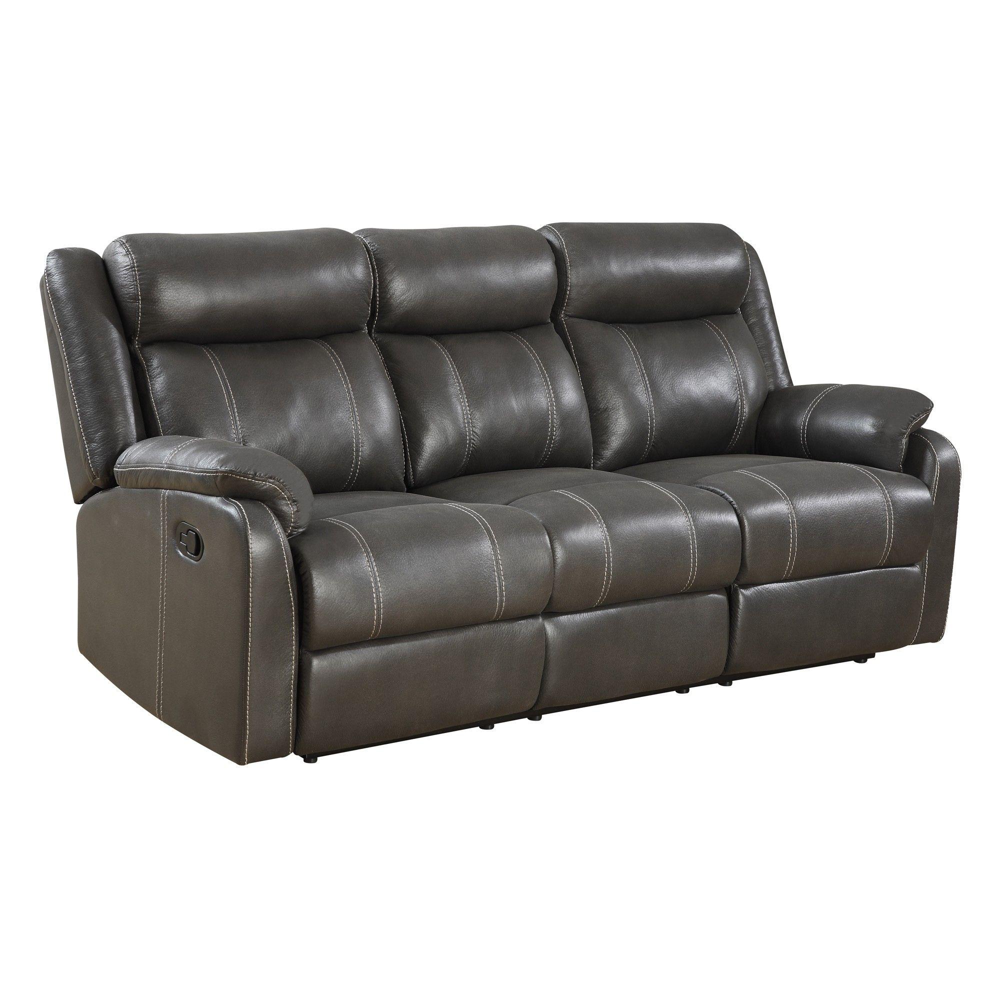 Smart Tech Bluetooth Power Reclining Black Sofa