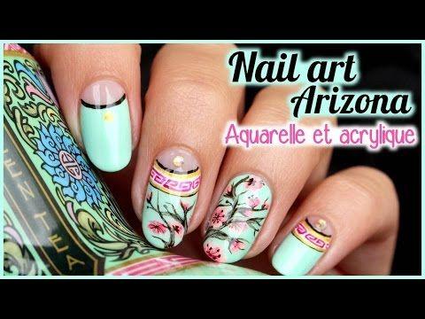 Tuto Nail Art Inspire De La Bouteille D Arizona Realise Au Vernis
