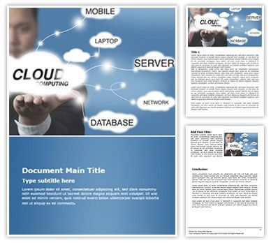 Organize Your Microsoft Word Documentation With Our Cloud Computing Free  Word Document Template. Download Cloud  Free Word Doc Templates