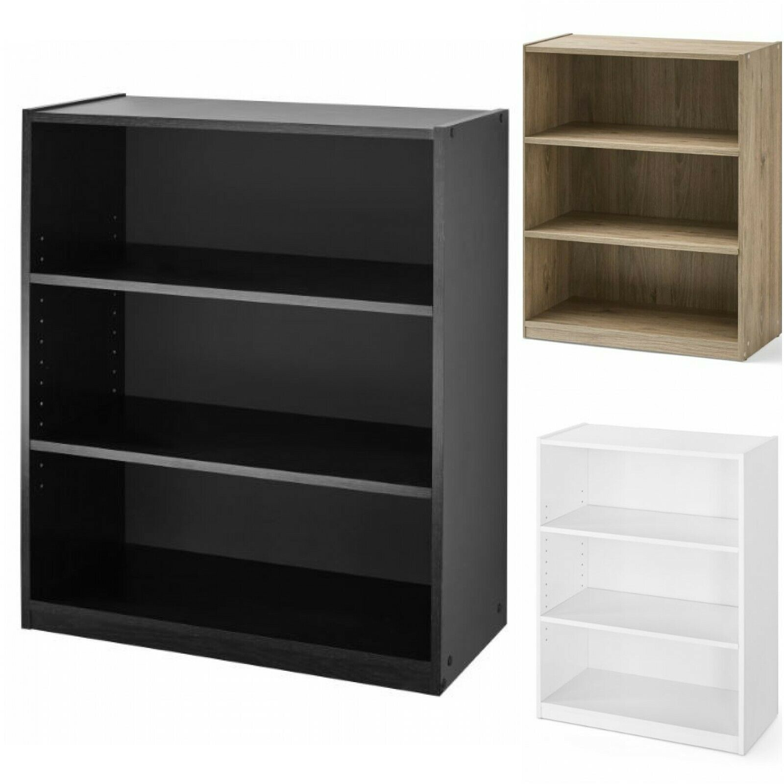 Details About Adjustable Bookcase Low Bookshelf 3 Shelf Storage Shelving Book Display Small In 2020 Adjustable