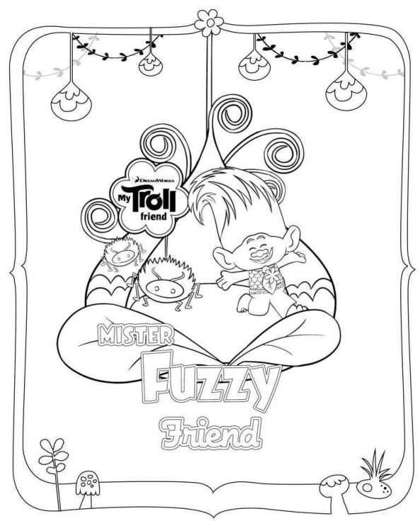 Kids-n-fun.com | trolls fuzzy | Trolls | Pinterest | Colorear y Dibujo