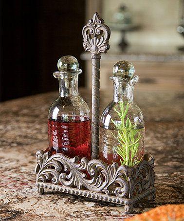 Look at this #zulilyfind! Acanthus Oil & Vinegar Cruet Set #zulilyfinds