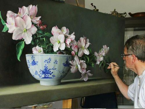 Painting flowers Pieter Wagemans - Art Kaleidoscope