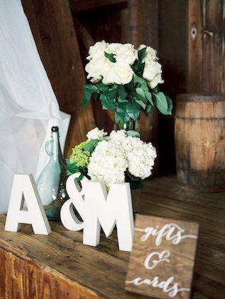 Barn wedding decor details   Alexandra Elise Photography