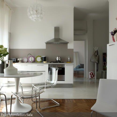 Eine Wohnküche ist praktisch, da man sich zum Kochen nicht in - bodenbeläge für küche