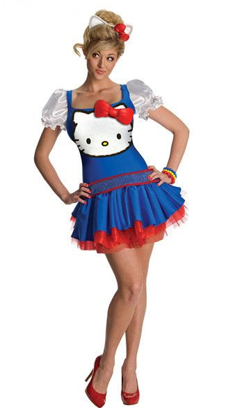 e464d83dbd5 Blue   Red Hello Kitty Dress Costume. Blue   Red Hello Kitty Dress Costume  Hello Kitty Halloween Costume