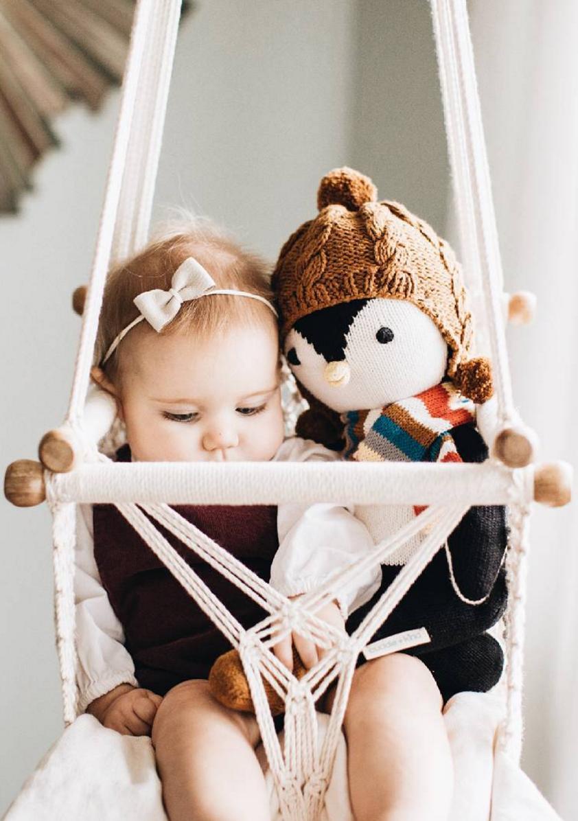 Macrame Baby Swing Chair HangAHammock on Etsy Cute
