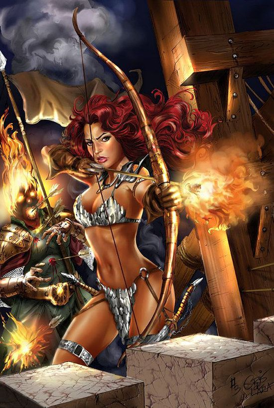 fantasy art Hot female warriors