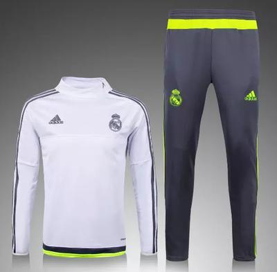 Survetement de foot Real Madrid d'entrainement Homme 2015 2016 Blanc