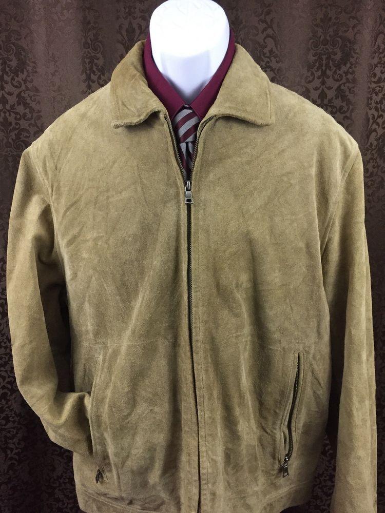 405eecb0b Men's Elegant Banana Republic 100% Leather Suede Jacket Large Full ...