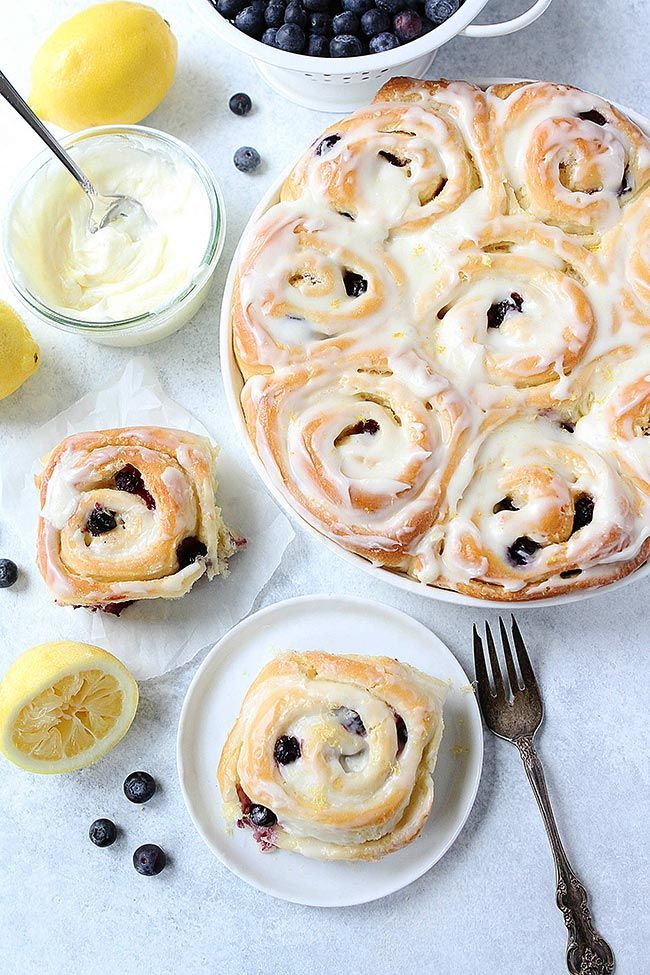 Lemon Blueberry Sweet Rolls Are Soft Sweet Rolls That Are Bursting With Fresh Blueberries And Covered In Lemon Cream Cheese Frosting. They Are The Perfect Treat For Breakfast Or Brunch.