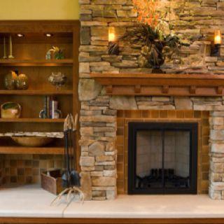 Best 25 Stacked Rock Fireplace Ideas On Pinterest Stone Fireplace Makeover Stacked Stone
