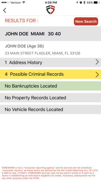 Safety App Forewarn Provides Instant Background Checks Safety