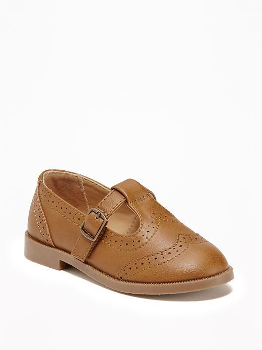 Toddler Girl shoes, brown oxfords, fall