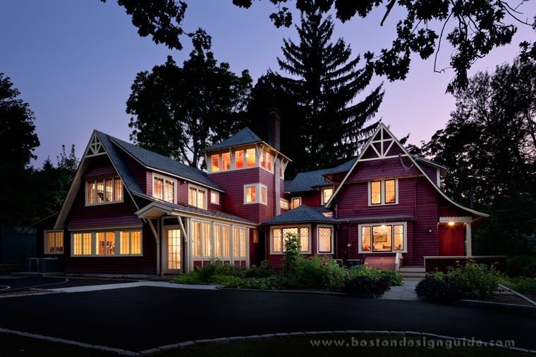 Architecture By LDa Architects; Rear Exterior Of A Home Combining Modern  And Classic Architectural Elements