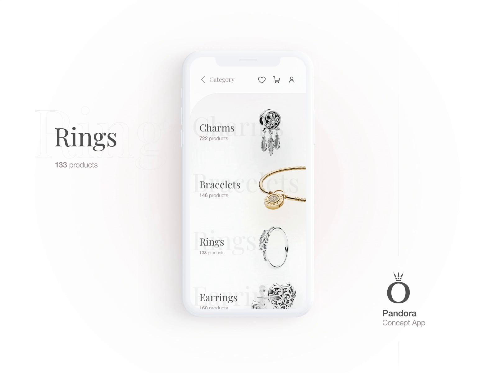 Pandora App Category Screen by Krystian Bieda (con immagini)