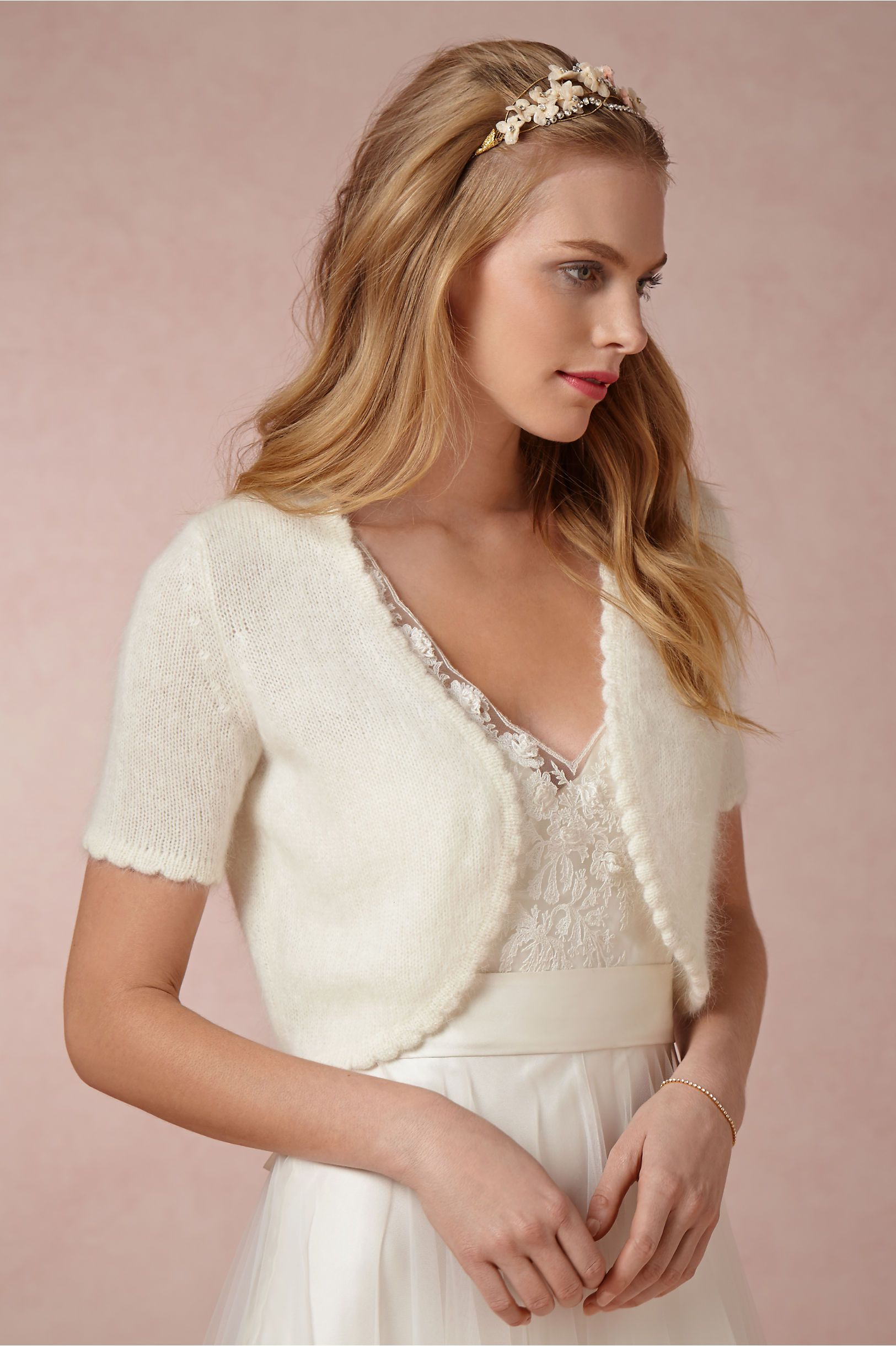 Casual wedding dresses for winter wedding  Plush Angora Topper in Bride Bridal Cover Ups  Wedding  Pinterest