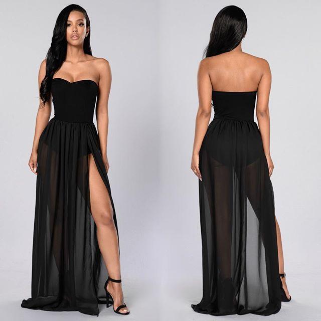"Fashion Nova Beauty Queen Maxi Dress: ""Exhibit A Dress"" / Www.FashionNova.com"