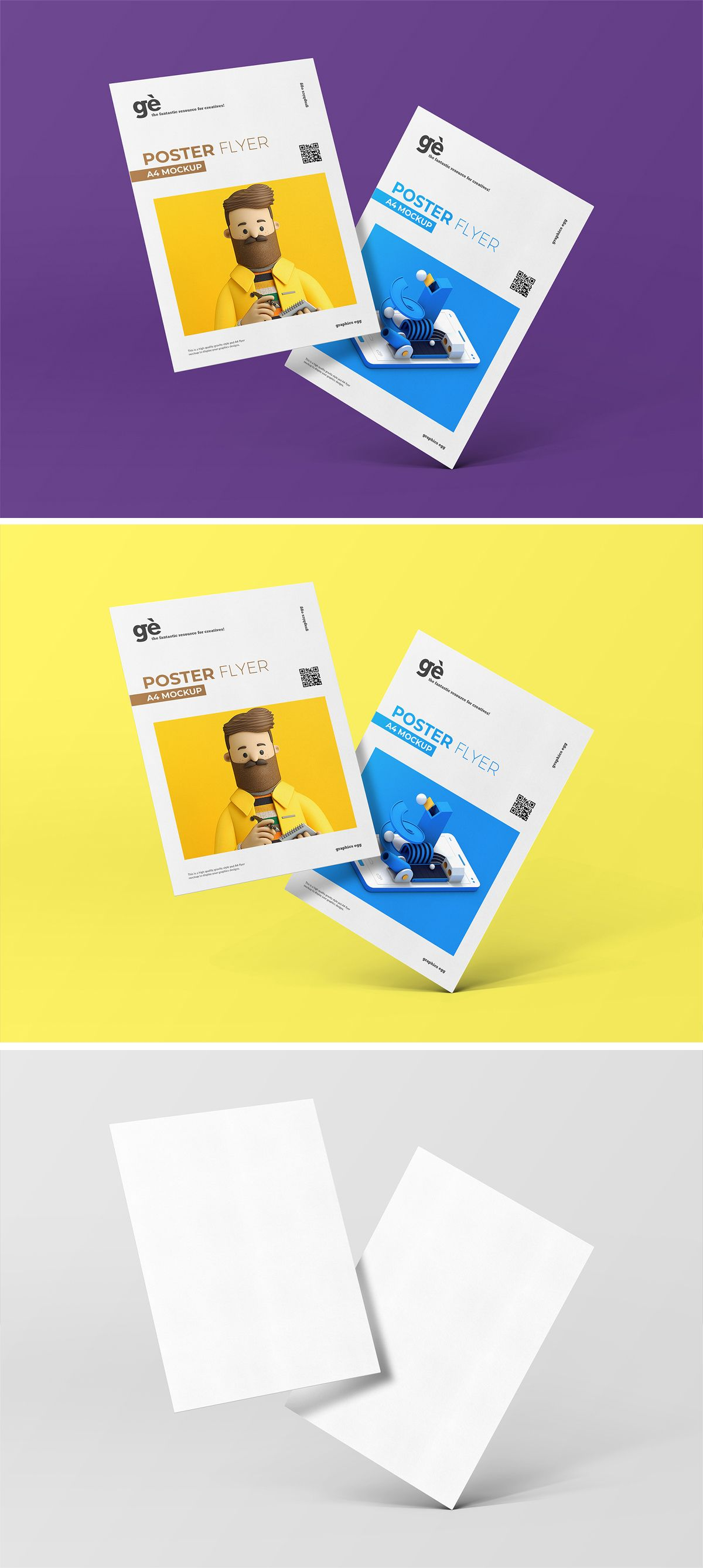 A4 Poster Flyer Mockup Free Download in 2020 Flyer