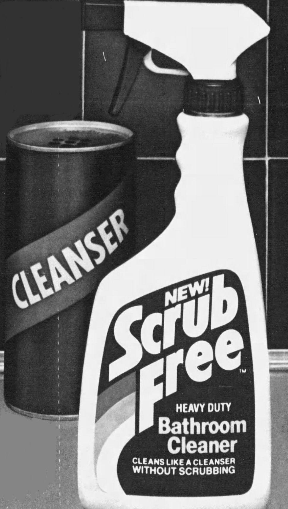 Scrub Free Bathroom Cleaner Ecolab 1984 Kitchen Cleaner Vintage Laundry Bathroom Cleaner