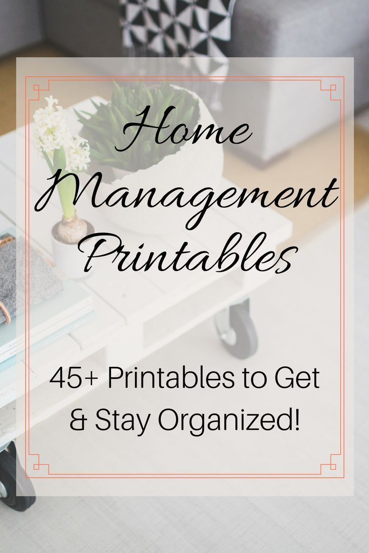 Home Management Printables Pack | Organizing, Management and House
