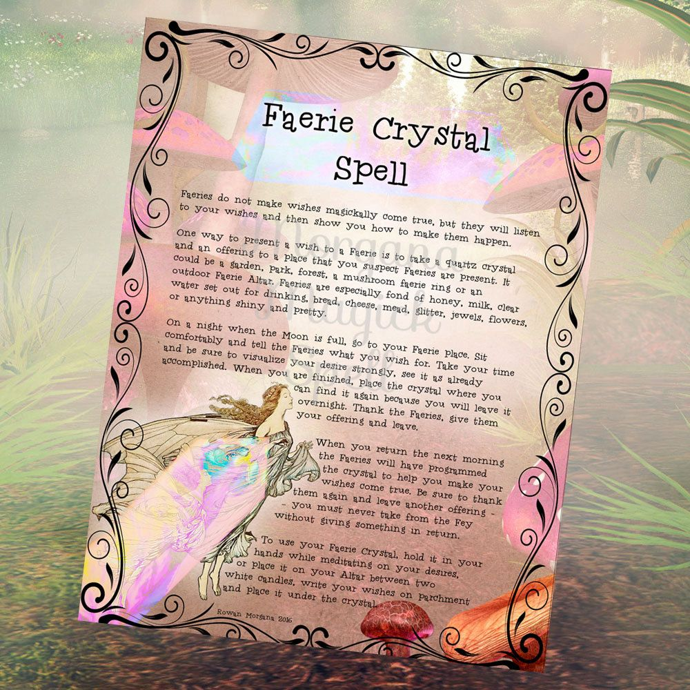 FAERIE CRYSTAL SPELL Realm of the Fey Lore - Instant