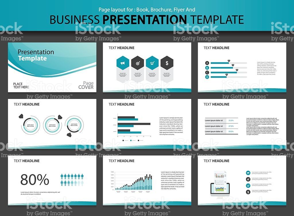 Page layout design template for business presentation page with - business presentation
