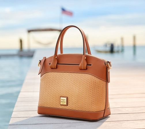 349961b25f86 Dooney & Bourke Woven Embossed Leather Satchel - Beacon - Page 1 — QVC.com