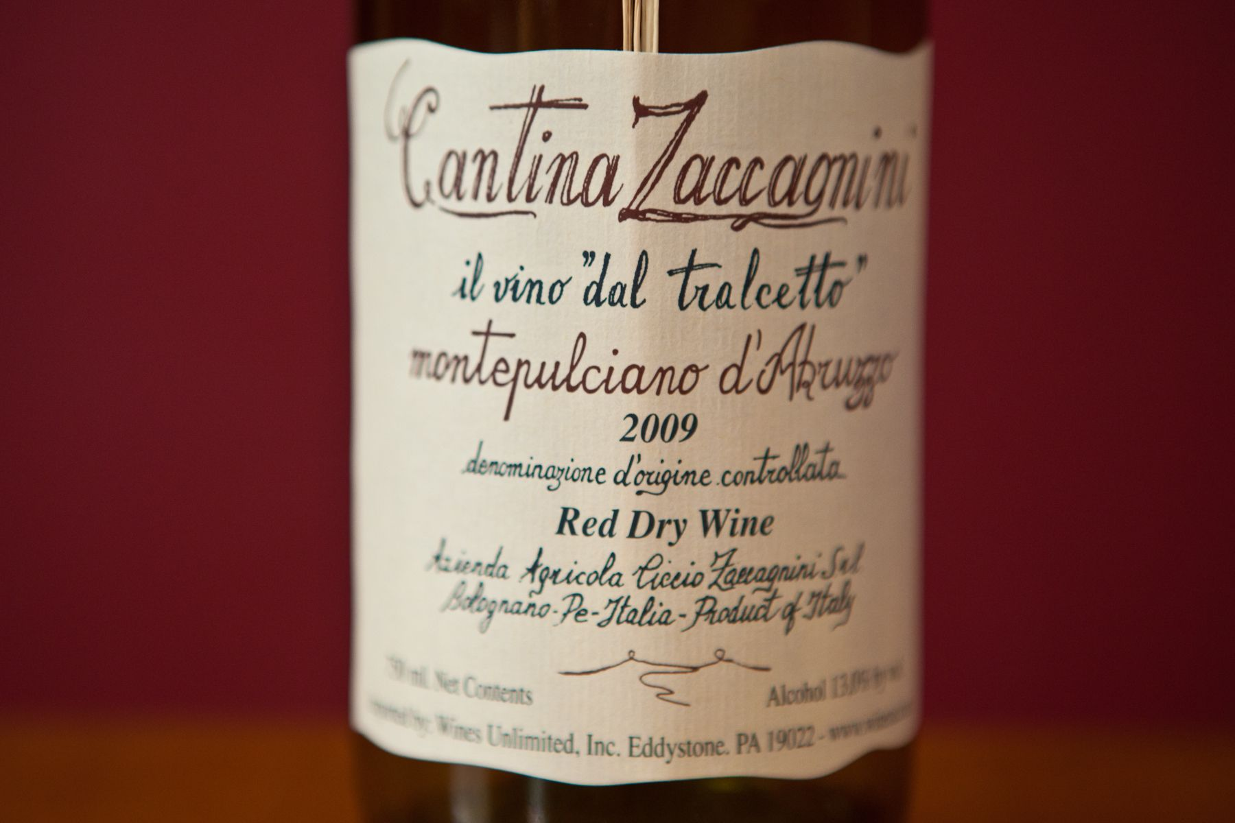 Cantina Zaccagnini Montepulciano D Abruzzo Organic Wine Macallan Whiskey Bottle Wines