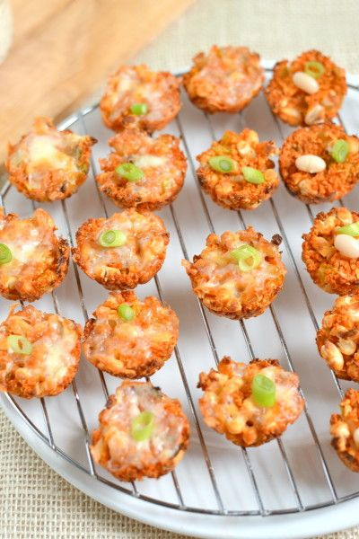 Buffalo White Bean Quinoa Bites Forget buffalo wings these Buffalo White Bean Quinoa Bites will be your new buffalo go to Theyre crispy and snacky and spicy and amazing d...