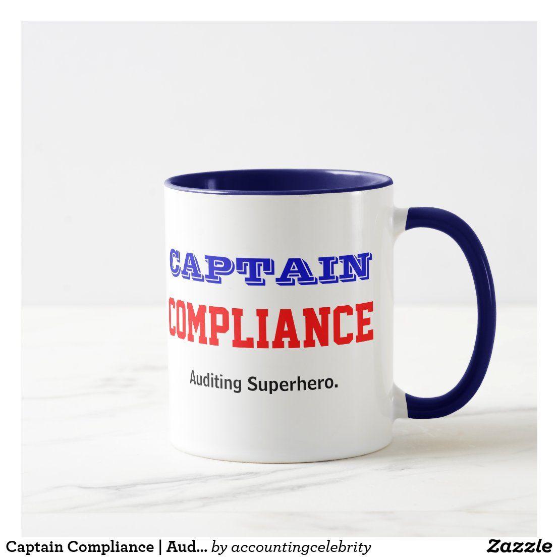 Captain compliance auditing superhero auditor mug