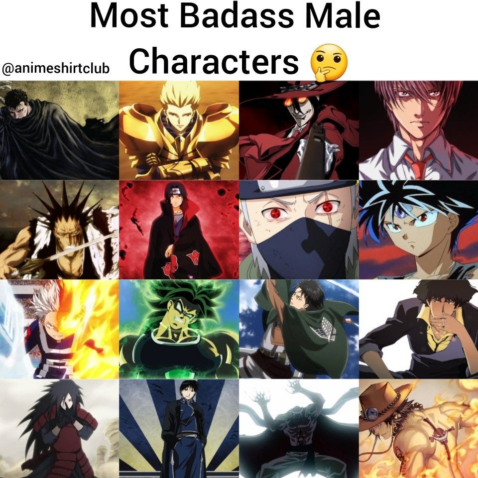 Top 25 Most Badass Male Anime Characters Anime, Anime