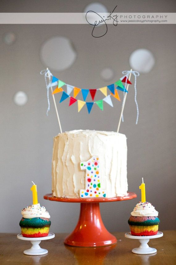 Write Like No Ones Watching Rainbow Themed First Birthday Party