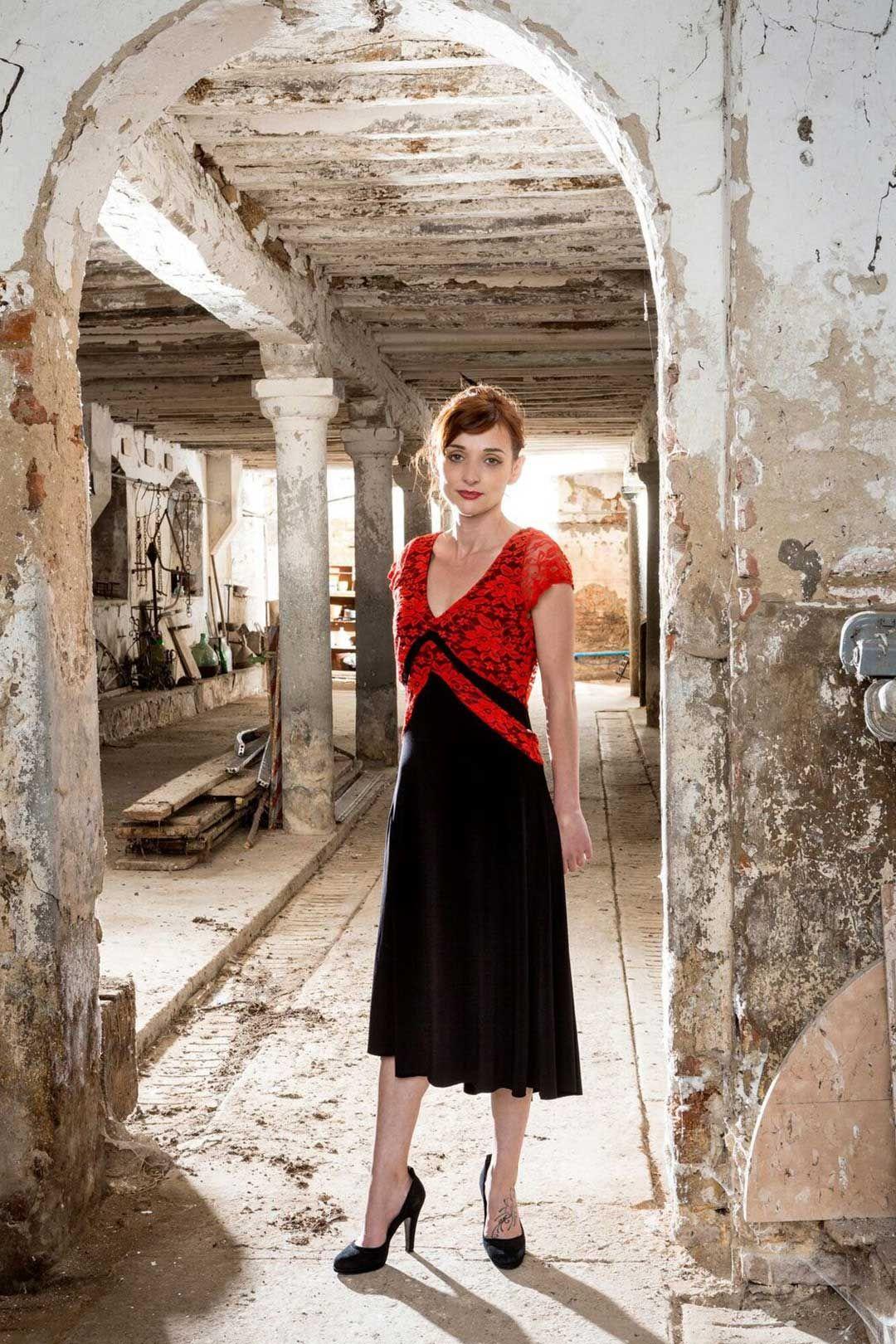 0ef9336879b Cremona Tango Dress - Velvet - The London Tango Boutique