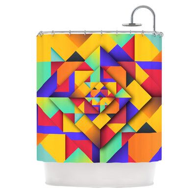 East Urban Home Shapes II by Danny Ivan Geometric Shower Curtain