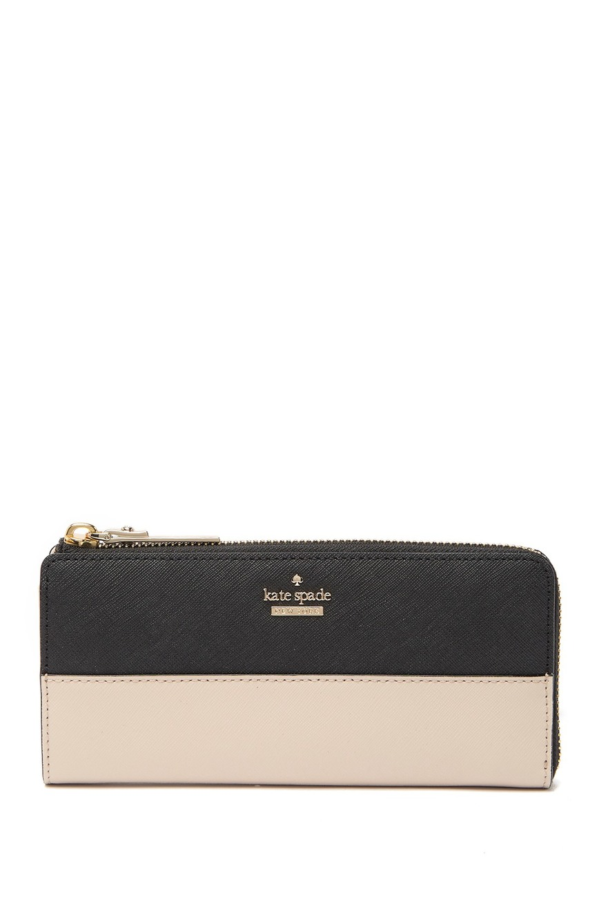 Kate spade new york | nisha leather zip-around wallet #nordstromrack