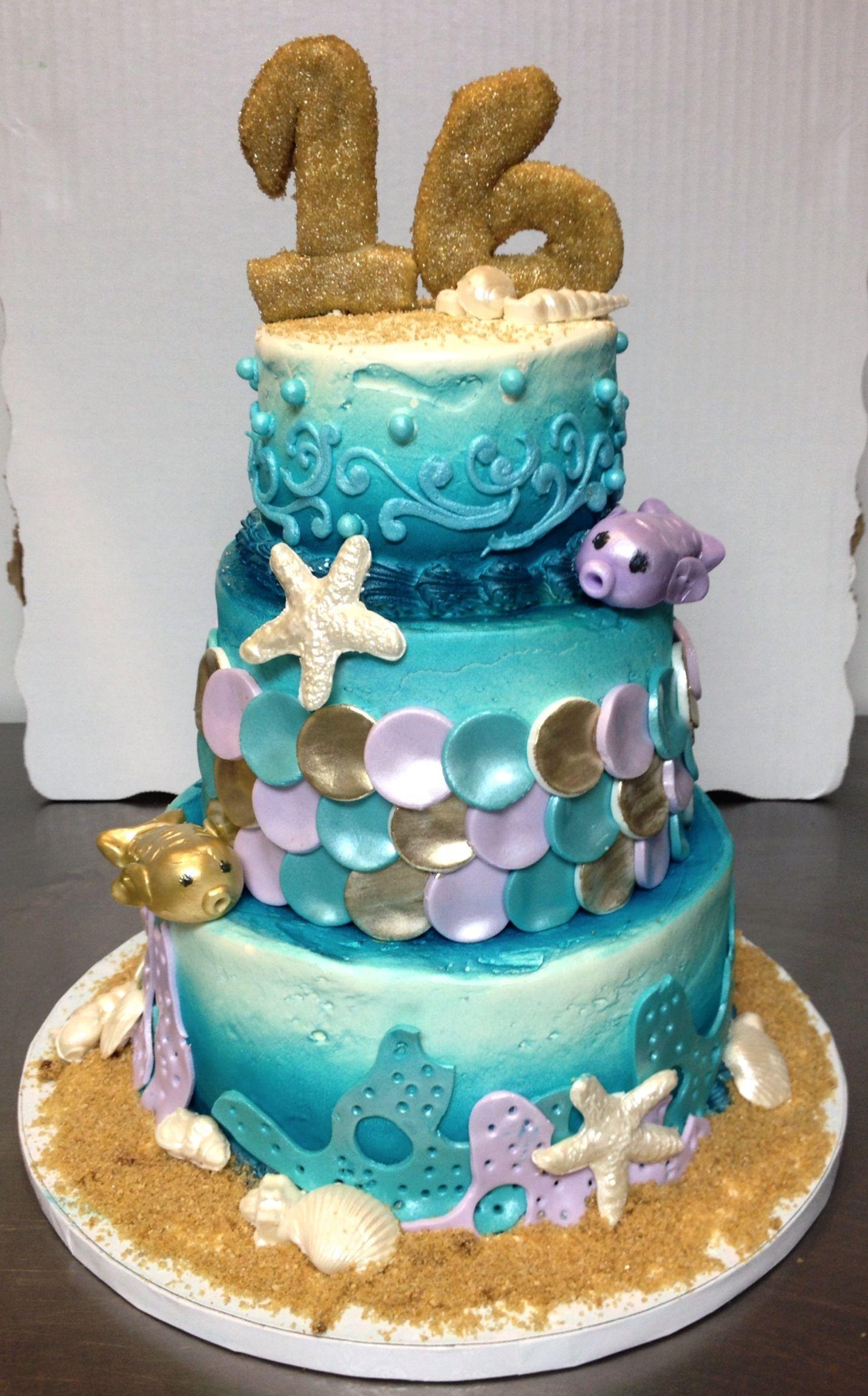 Colored Princess Sea Shells To Decorate A Cake