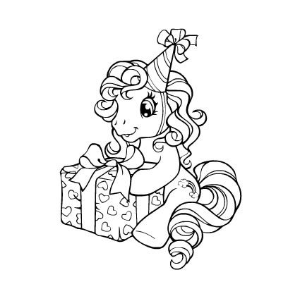 My Little Pony Coloring Pages My Little Pony Coloring My Little Pony Birthday Unicorn Coloring Pages