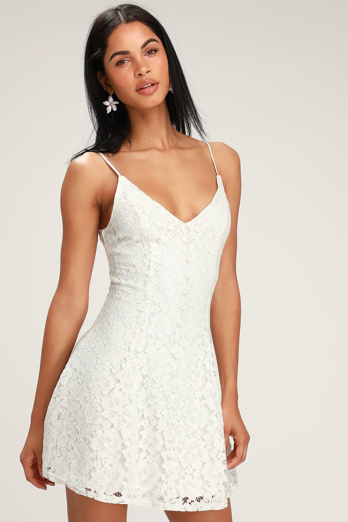 Easy Love White Lace Skater Dress White Lace Skater Dress White Dresses Graduation White Skater Dresses [ 1680 x 1120 Pixel ]