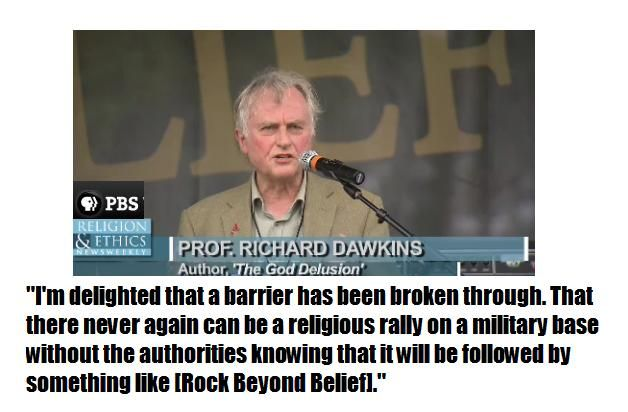 Richard Dawkins on Rock Beyond Belief 2