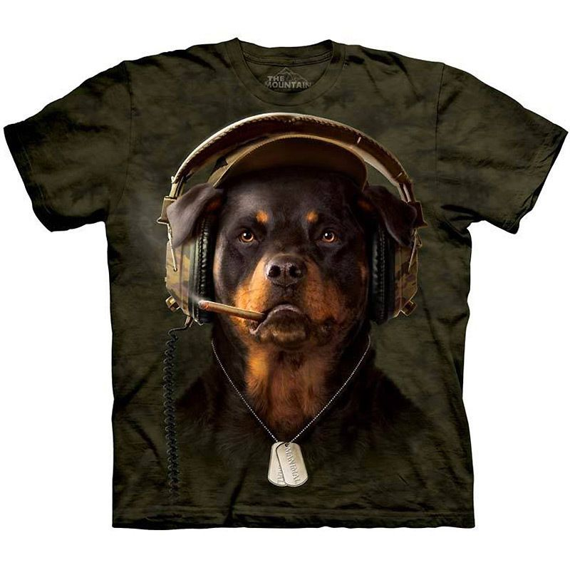 The Mountain 100/% Cotton Kid/'s T-Shirt Youth Tee Rottweiler Puppy Size M NWT
