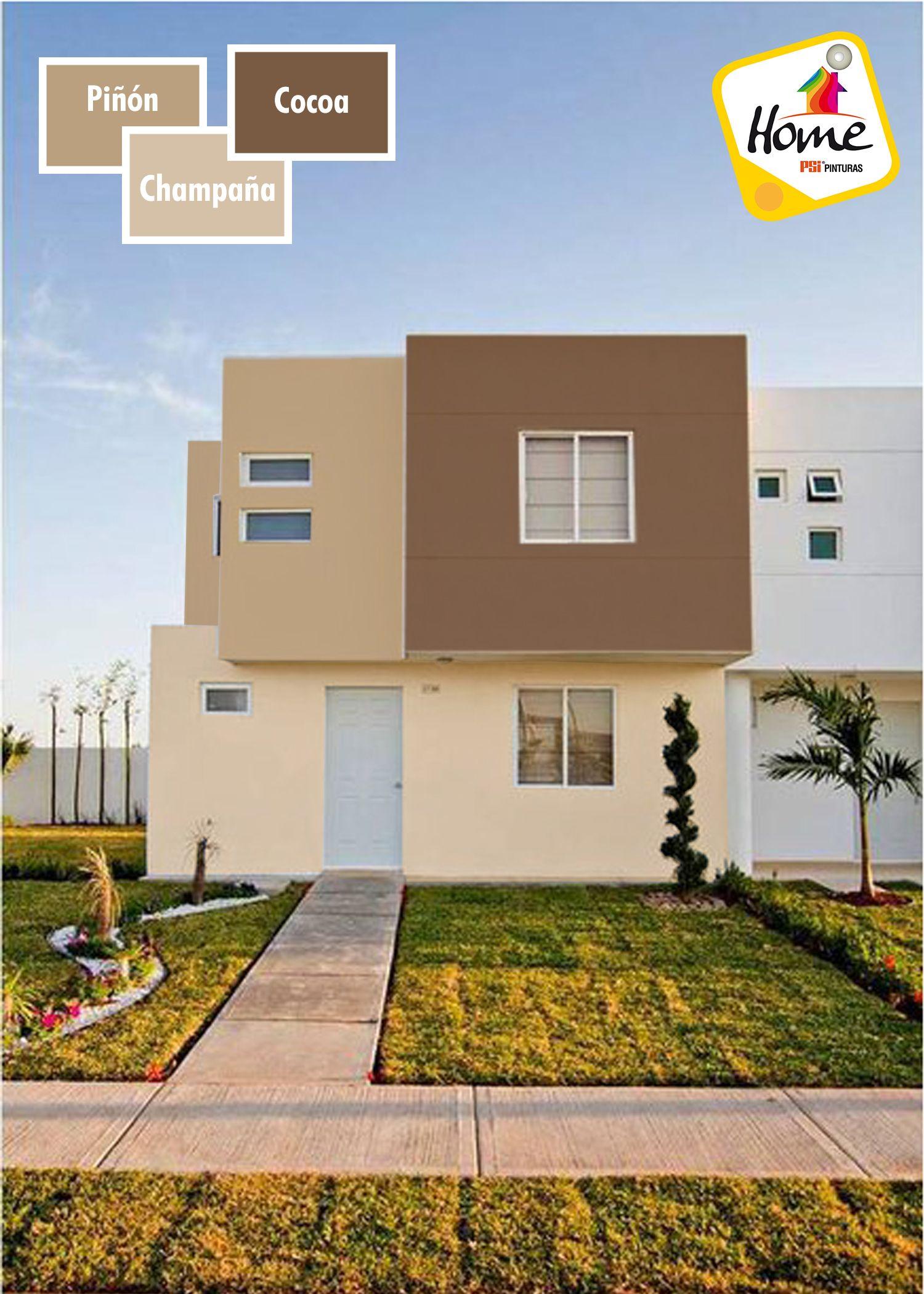 Combina Colores Tambien Puedes Hacerlo En La Fachada Pintura Fachadas De Casas Pinturas De Casas Exteriores De Casas Modernas