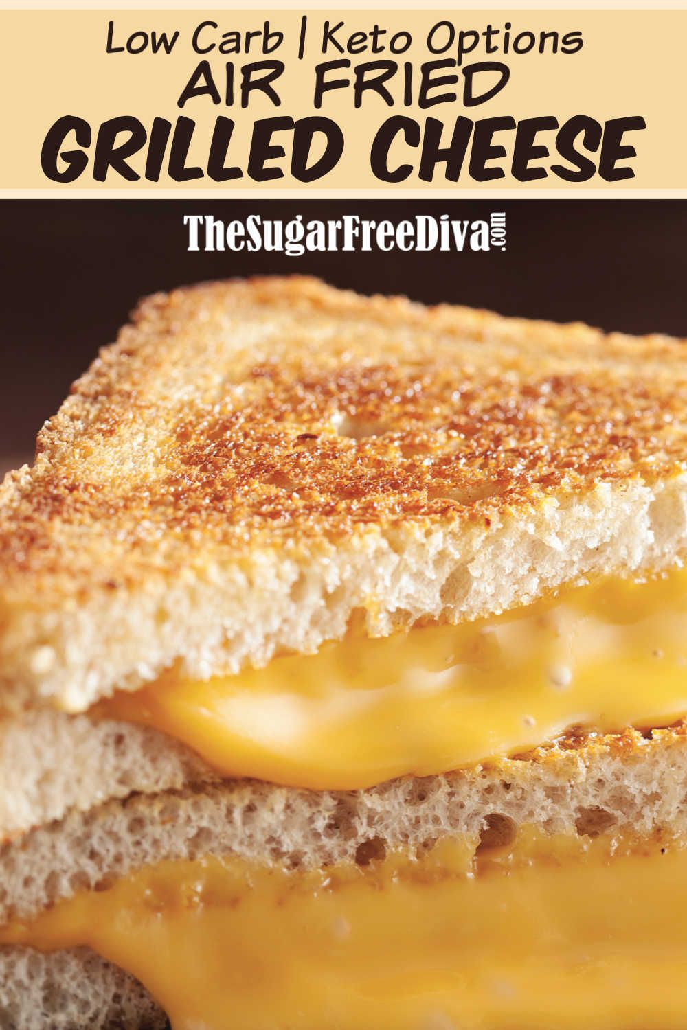 Low Carb Air Fried Grilled Cheese lowcarb keto