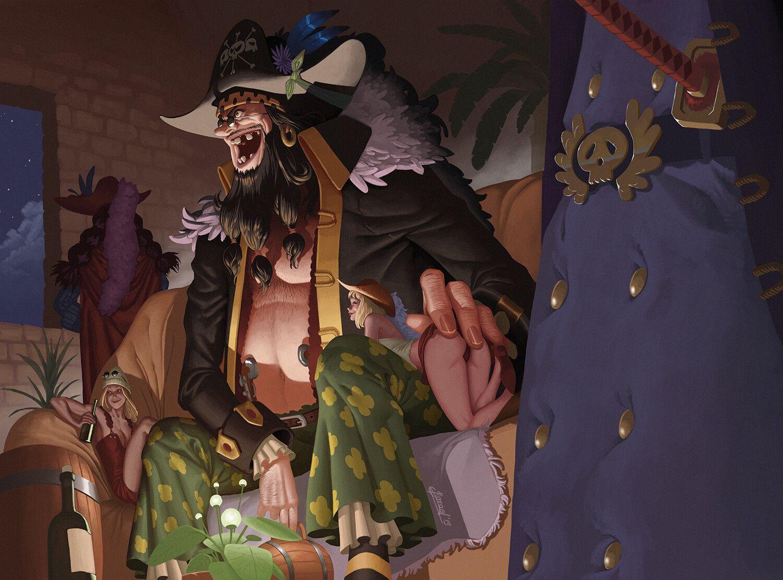 Blackbeard Yonko fanart (One Piece), Dmitry Borod on ...