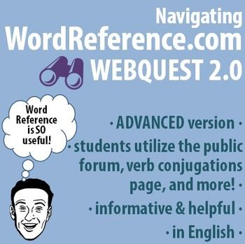 World language navigating wordreference webquest advanced an engaging webquest for navigating the more advanced features of wordreference designed negle Gallery